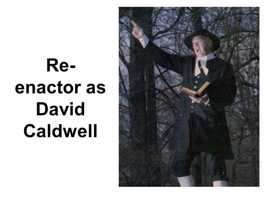 Re- enactor as David Caldwell
