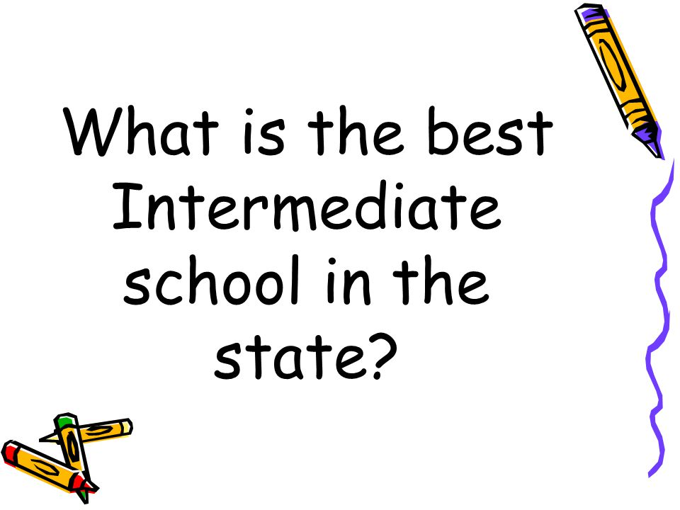 What is the best Intermediate school in the state?
