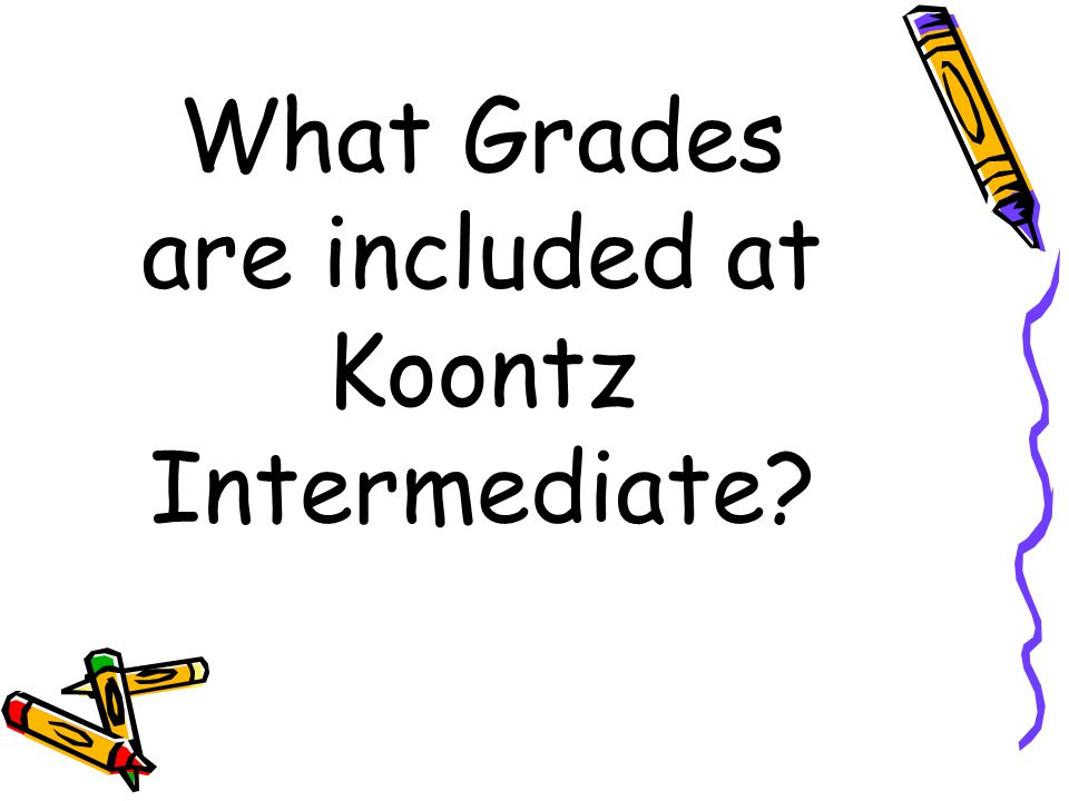 What Grades are included at Koontz Intermediate?