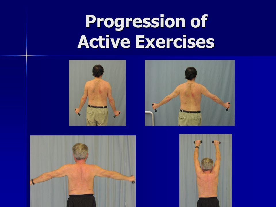 Progression of Active Exercises