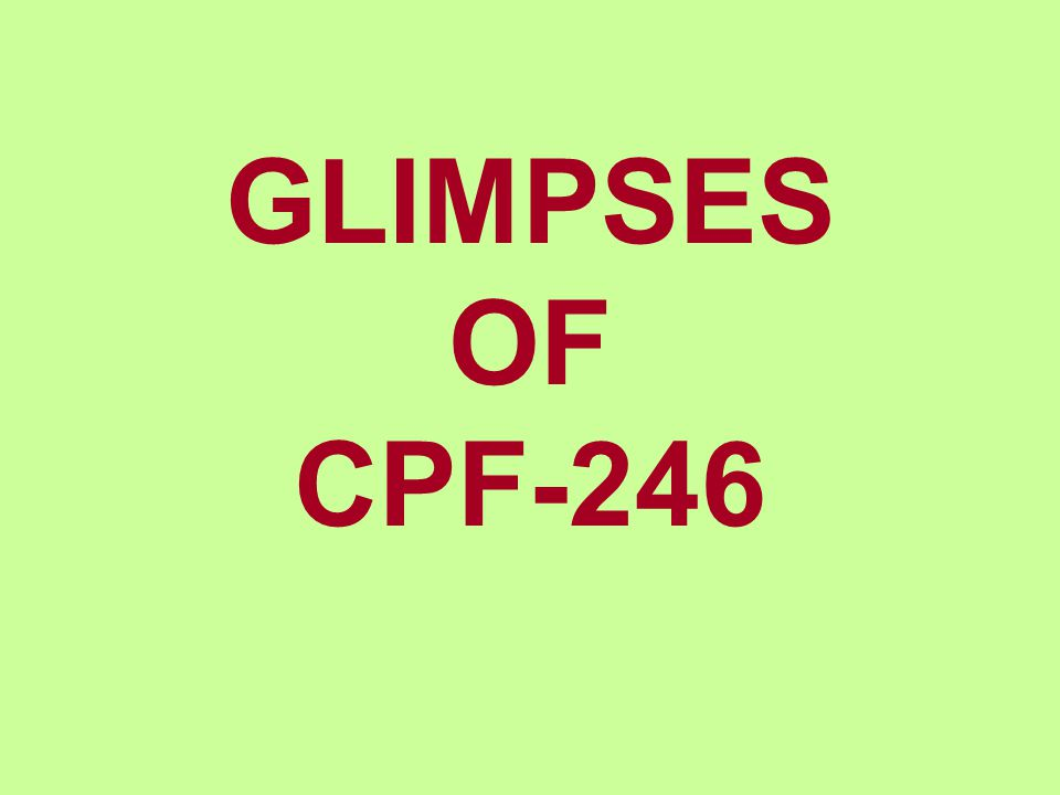 GLIMPSES OF CPF-246