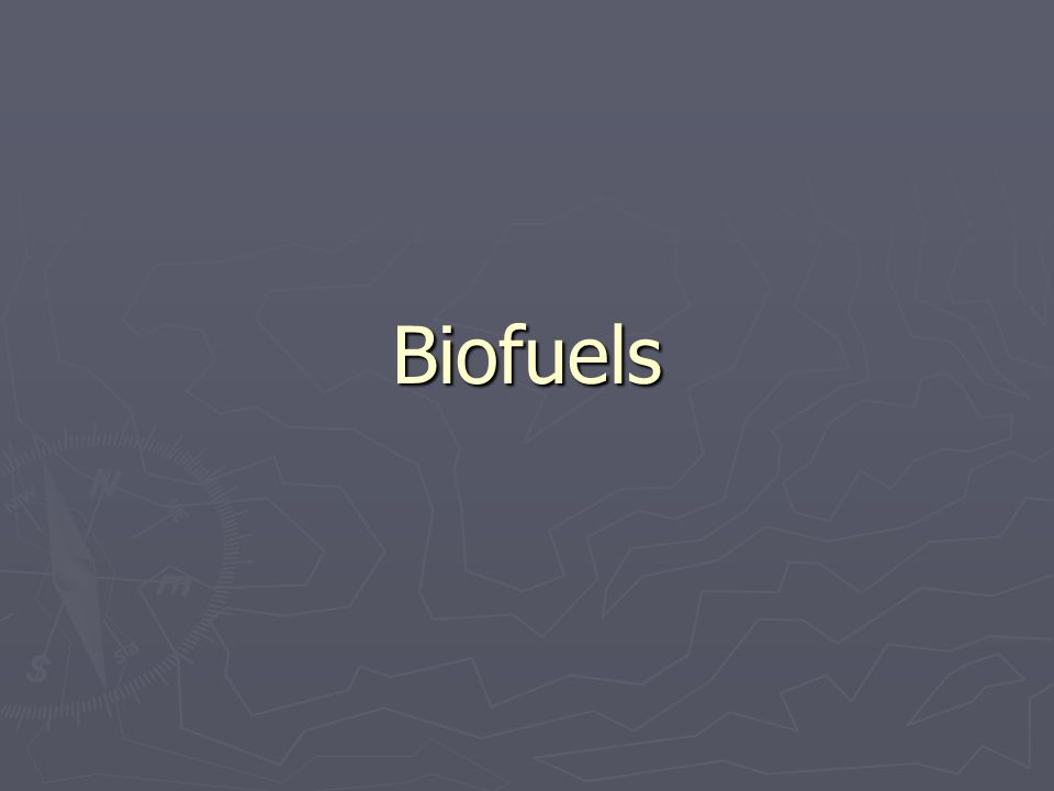 Potential for biomass use ► Total Global Primary Energy Supply (in ExaJoules (10 18 )) 2004470 EJ 2030670 EJ 2050850 EJ ► Actual use of biomass 200449 EJ ► Potential of biomass Yearly global photosynthesis ~ 4000 EJ Technical potential raw biomass (2050) 450 EJ Economical potential raw biomass(2050) 150 EJ Economical potential liquid biofuel(2050) 53 EJ