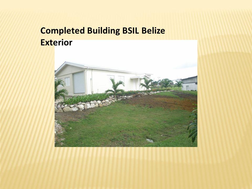 Completed Building BSIL Belize Exterior