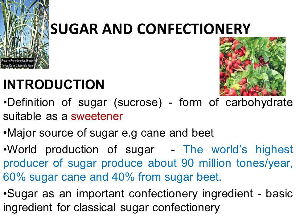 Production of raw sugar sugar cane shredding Squeezing under hydrolytic pressure raw sucrose sugar Sugar cane Sugar beet washing slicing diffusing sucrose liquor Sugar Beet At this stage the liquor contain 13 – 14% sucrose.