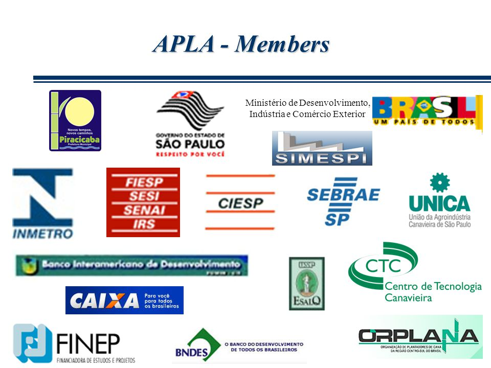 APLA - Members Ministério de Desenvolvimento, Indústria e Comércio Exterior