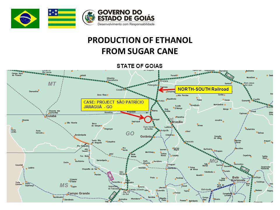 PRODUCTION OF ETHANOL FROM SUGAR CANE CASE: PROJECT SÃO PATRÍCIO JARAGUÁ - GO NORTH-SOUTH Railroad STATE OF GOIAS