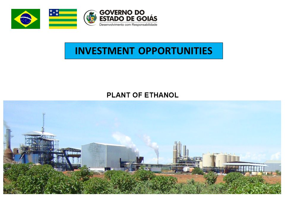 INVESTMENT OPPORTUNITIES PLANT OF ETHANOL
