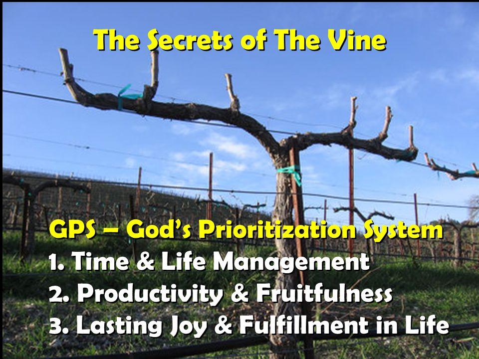 The Secrets of The Vine GPS – God's Prioritization System 1.