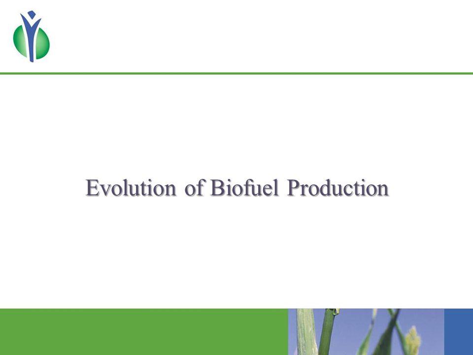 Evolution of Global Biofuel Production (billion gallons) Source: IEA and F.O.
