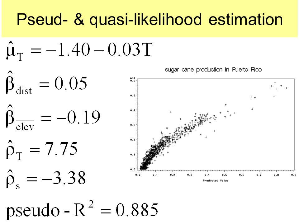 Pseud- & quasi-likelihood estimation