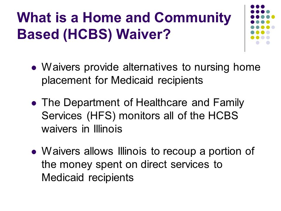 What is a Home and Community Based Waiver.
