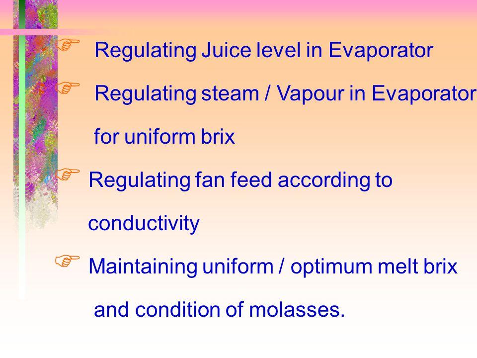 Due to..  Auto Lime Feeding  Optimum Juice Temperature 3.