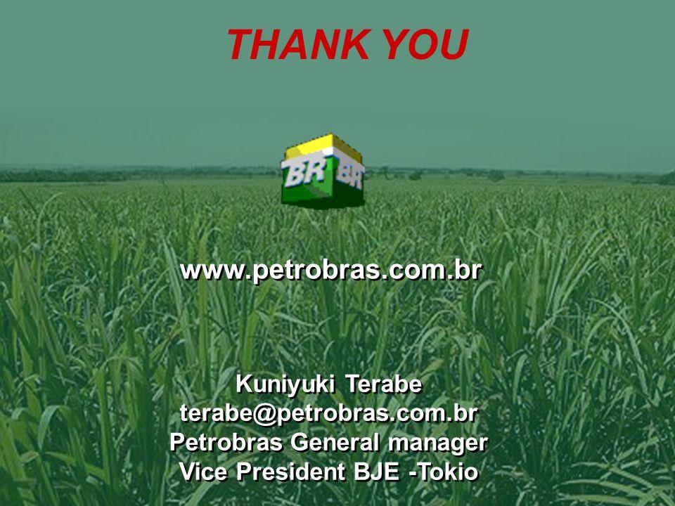 33 www.petrobras.com.br Kuniyuki Terabe terabe@petrobras.com.br Petrobras General manager Vice President BJE -Tokio Kuniyuki Terabe terabe@petrobras.com.br Petrobras General manager Vice President BJE -Tokio THANK YOU