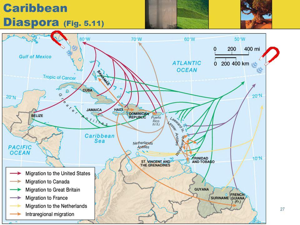 Globalization & Diversity: Rowntree, Lewis, Price, Wyckoff 27 Caribbean Diaspora (Fig. 5.11)