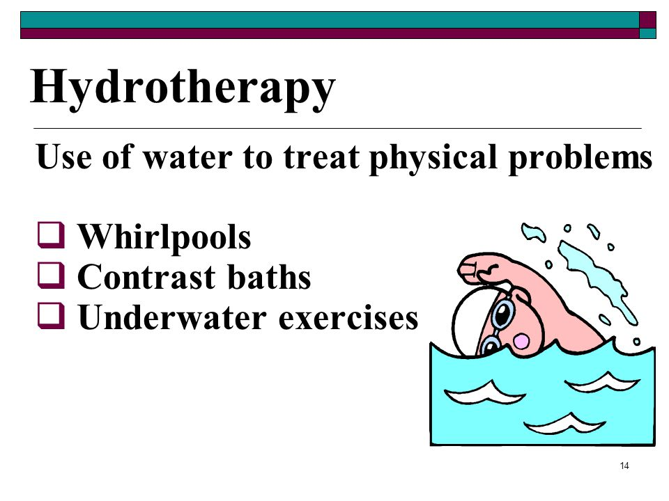 13 Administering Thermotherapy (cont.) Diathermy – heat therapy in which a machine produces high frequency waves that achieve deep heat penetration in