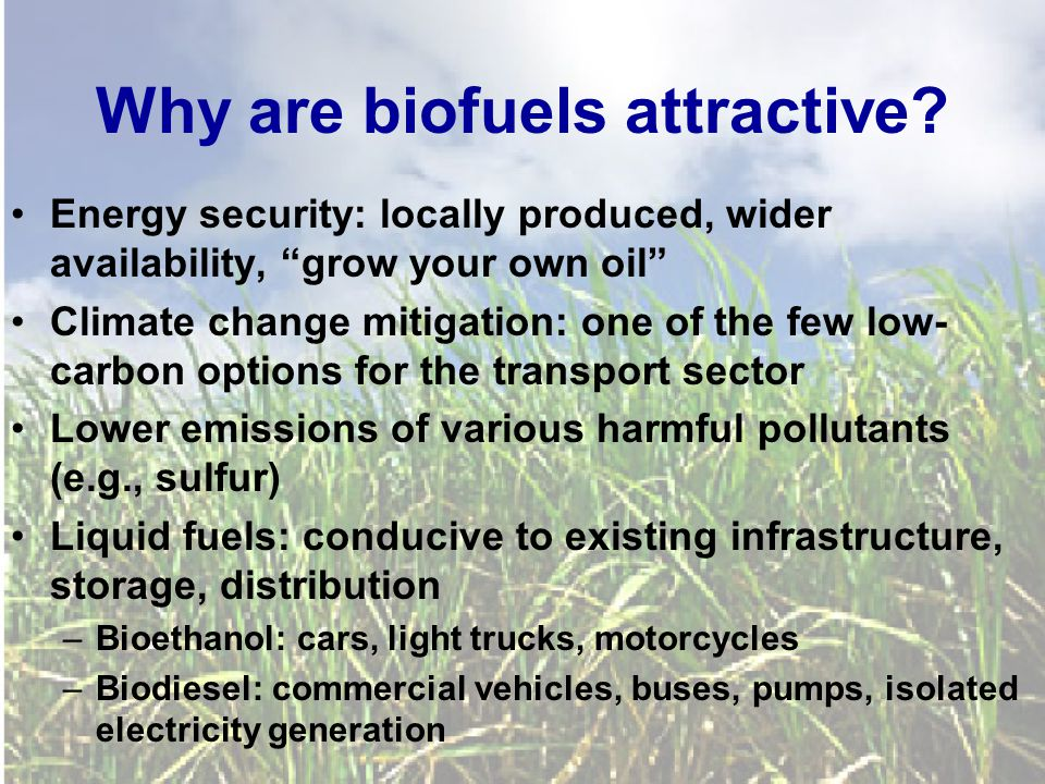 Why are biofuels attractive.