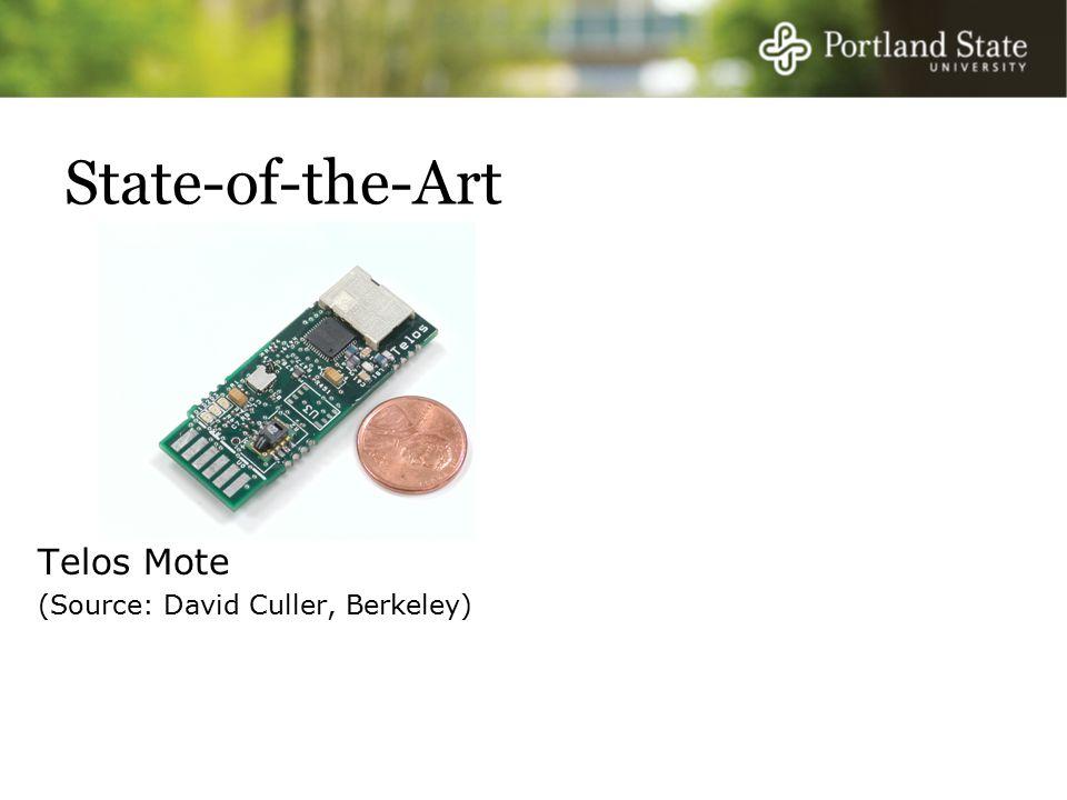 State-of-the-Art Telos Mote (Source: David Culler, Berkeley)