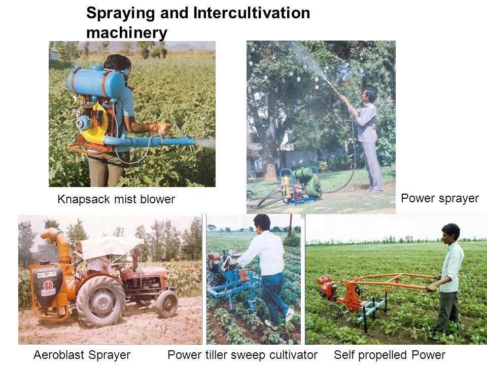 Knapsack mist blower Power sprayer Aeroblast SprayerSelf propelled Power weeder Power tiller sweep cultivator Spraying and Intercultivation machinery