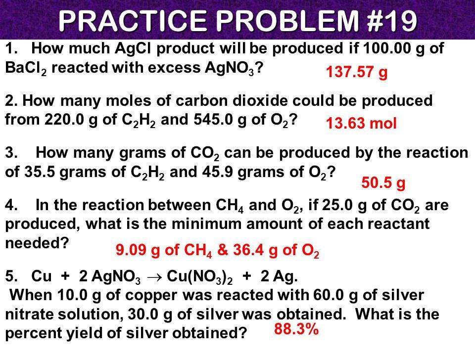 PRACTICE PROBLEM #19 1.