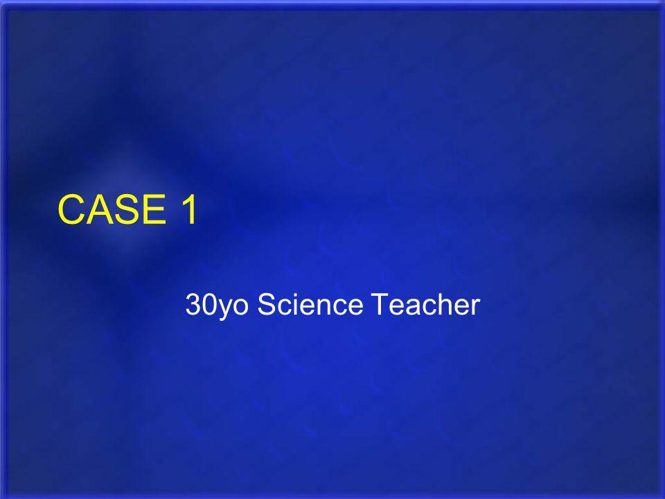 CASE 1 30yo Science Teacher
