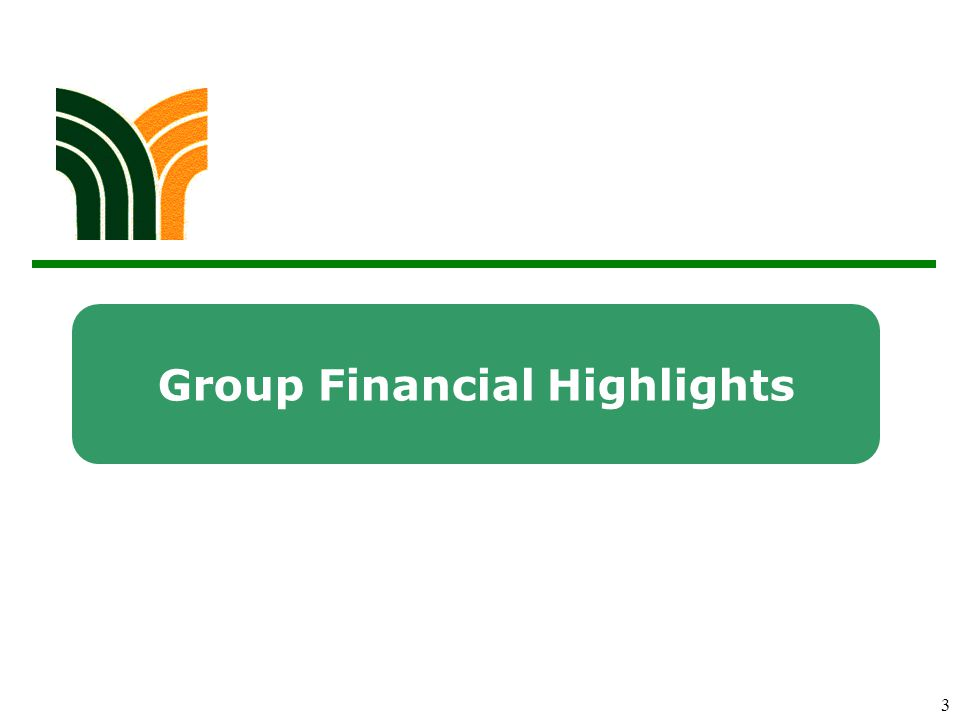 3 Group Financial Highlights
