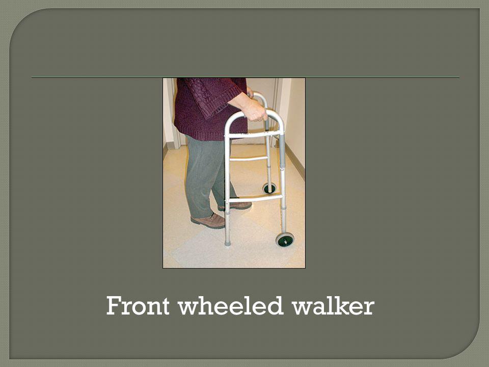 Front wheeled walker
