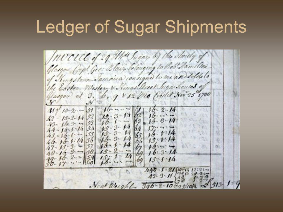 Ledger of Sugar Shipments