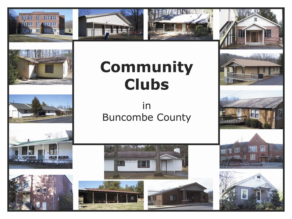 References for data Community Club Members Buncombe County GIS Dept.