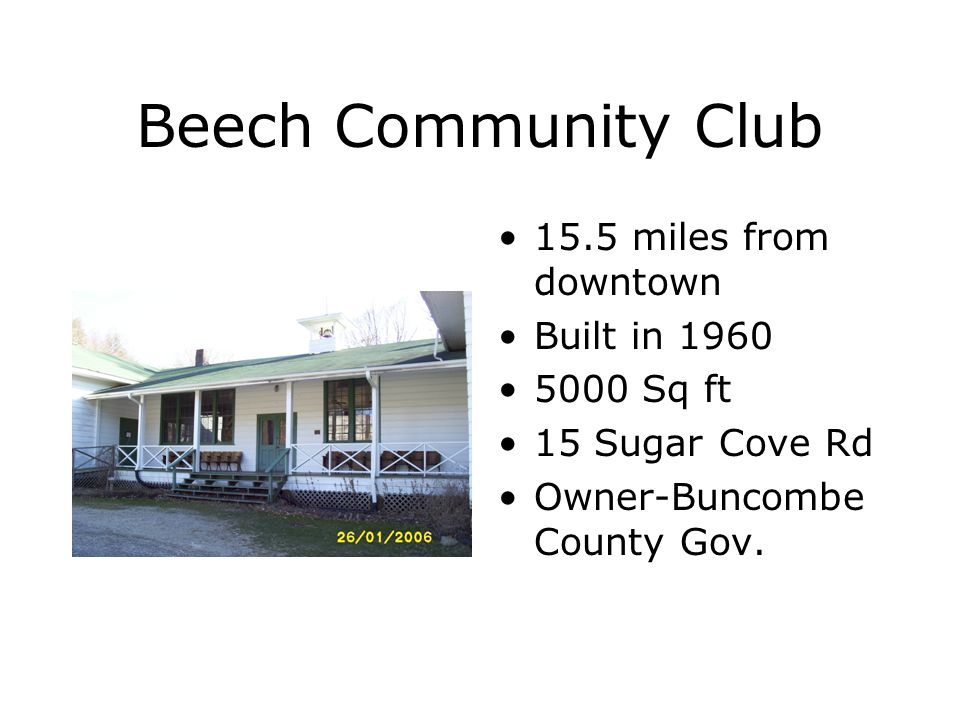 Ox Creek Community Club 15 miles from downtown 1200 Sq ft 346 Ox Creek Rd Owner- Community Club