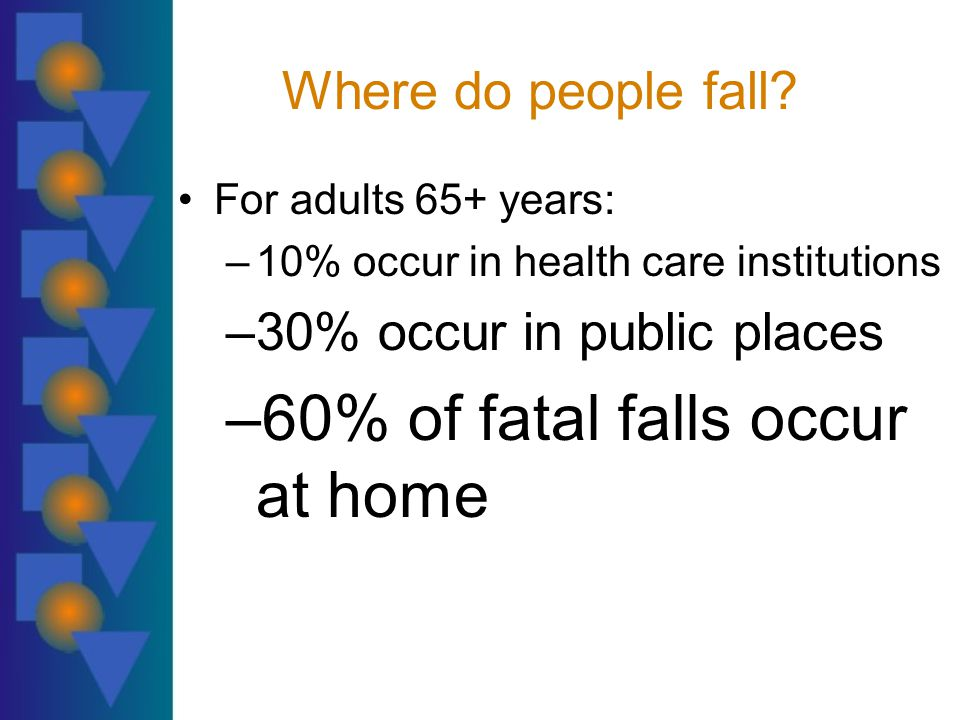 Where do people fall.