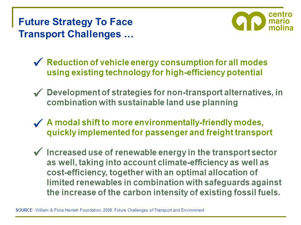 Reduction of vehicle energy consumption for all modes using existing technology for high-efficiency potential Development of strategies for non-transp