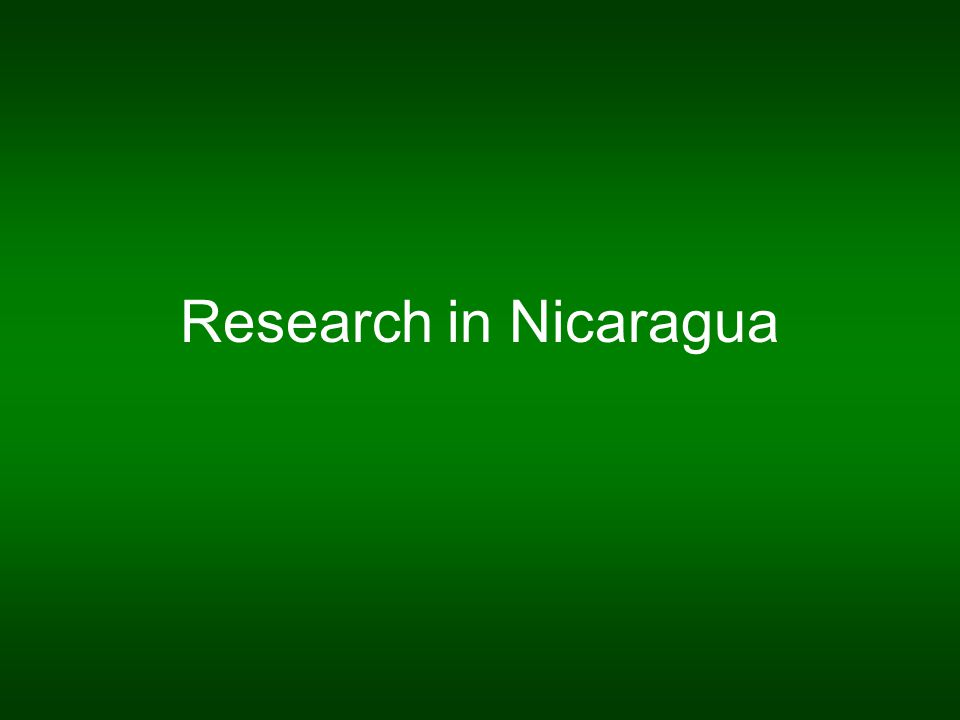 Research in Nicaragua