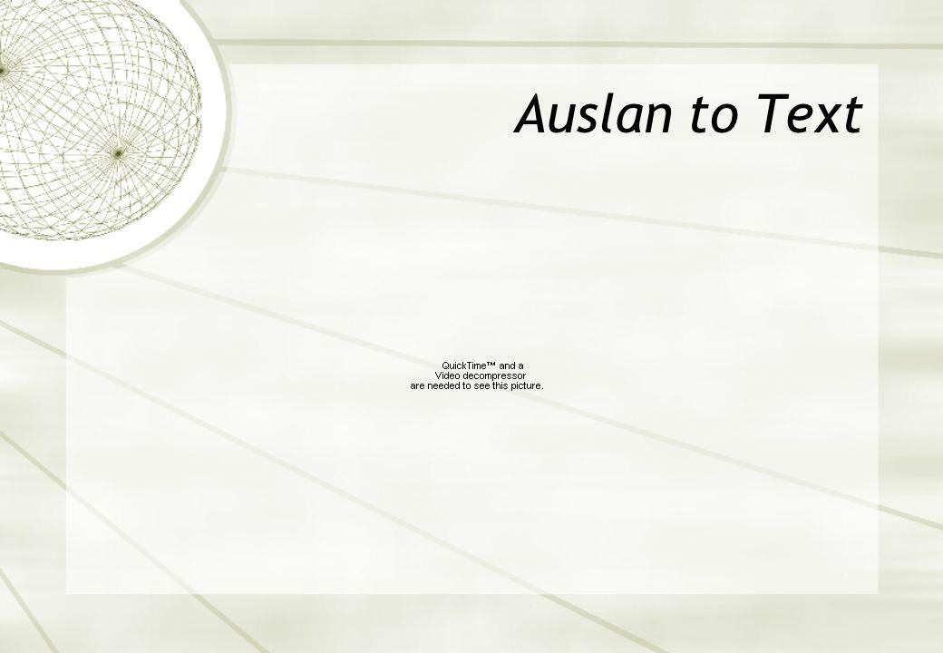 Auslan to Text