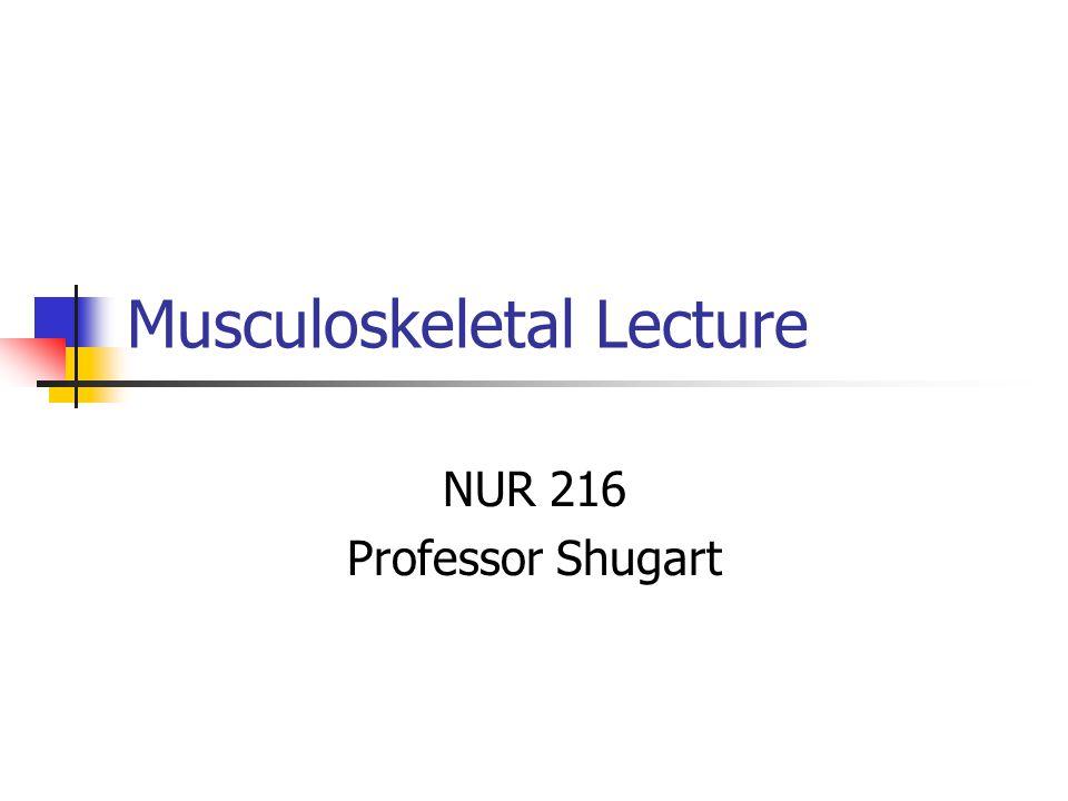 Musculoskeletal Lecture NUR 216 Professor Shugart