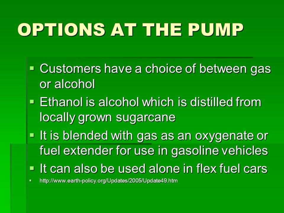 Brazil against the world…  Brazil led world ethanol production in 2004, distilling 4 billion gallons  The U.S.