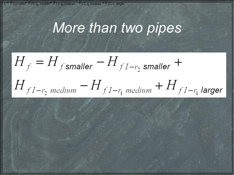 More than two pipes
