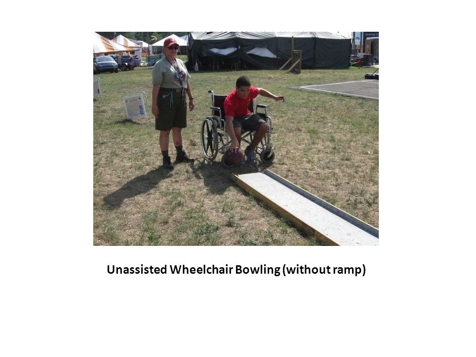 Unassisted Wheelchair Bowling (without ramp)