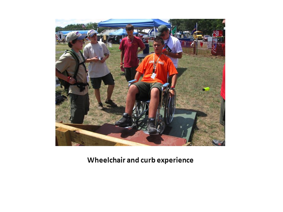 Wheelchair and curb experience