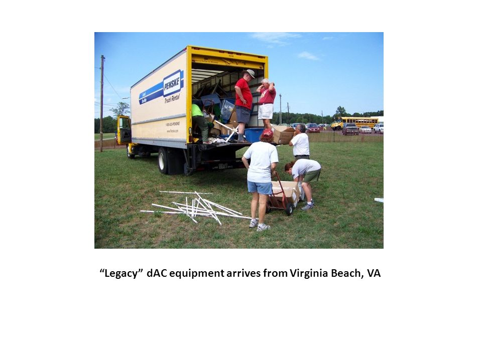 Legacy dAC equipment arrives from Virginia Beach, VA