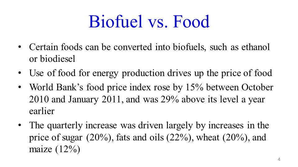 4 Biofuel vs.