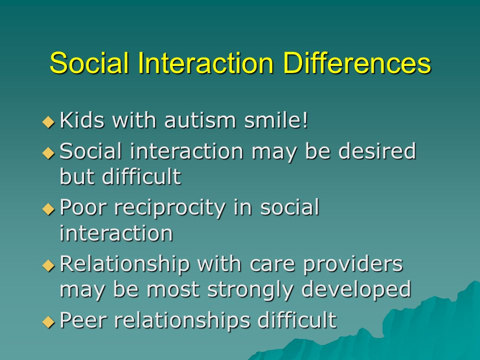 Social Interaction Differences  Kids with autism smile.