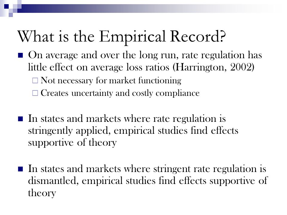 What is the Empirical Record.
