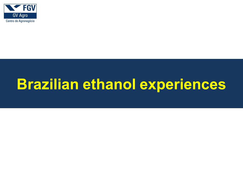 a Brazilian ethanol experiences