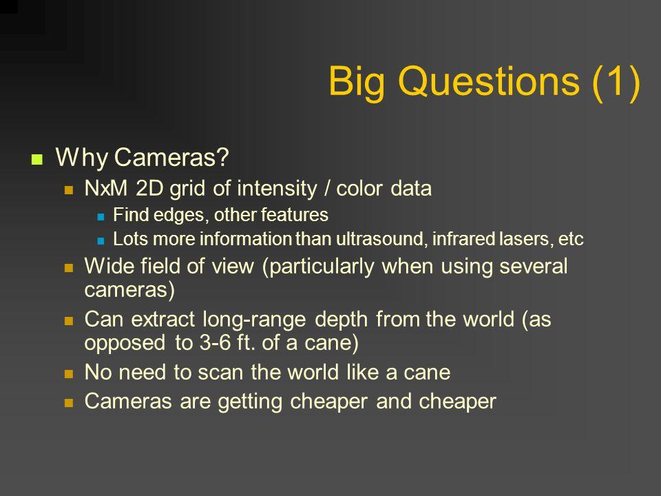 Big Questions (1) Why Cameras.
