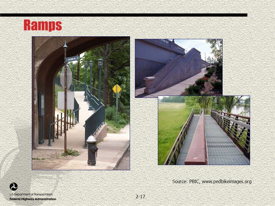 2-17 Ramps Source: PBIC, www.pedbikeimages.org