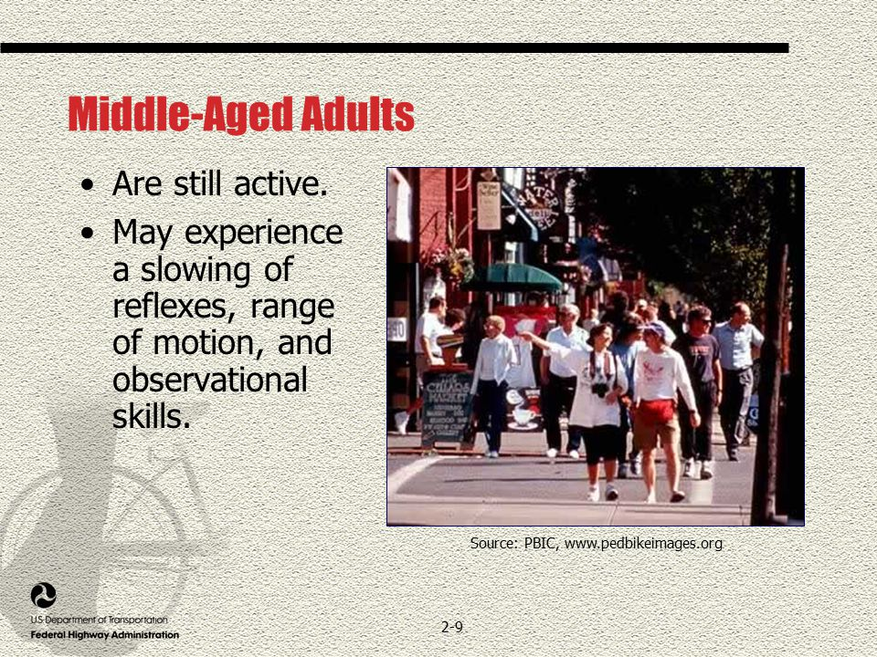 2-9 Middle-Aged Adults Are still active.