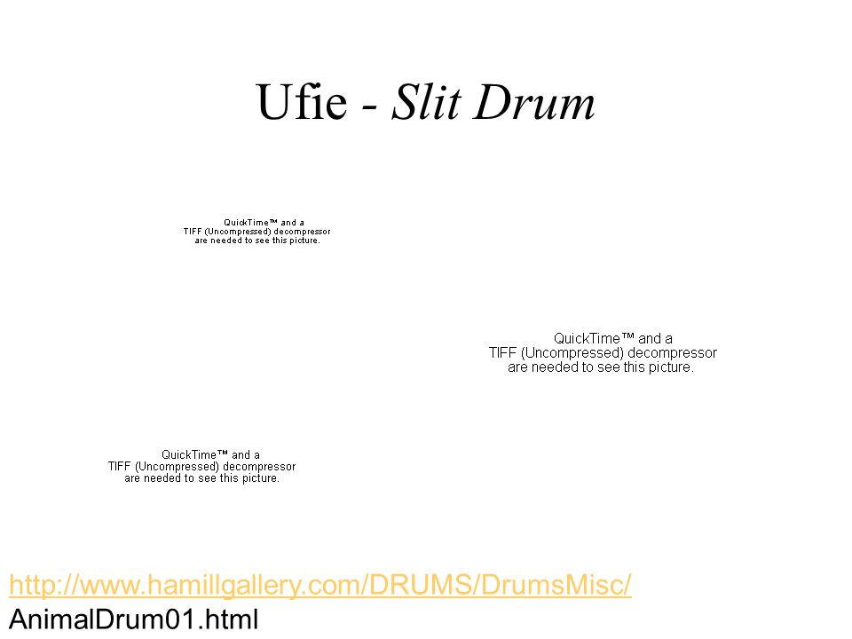 Ufie - Slit Drum http://www.hamillgallery.com/DRUMS/DrumsMisc/ AnimalDrum01.html