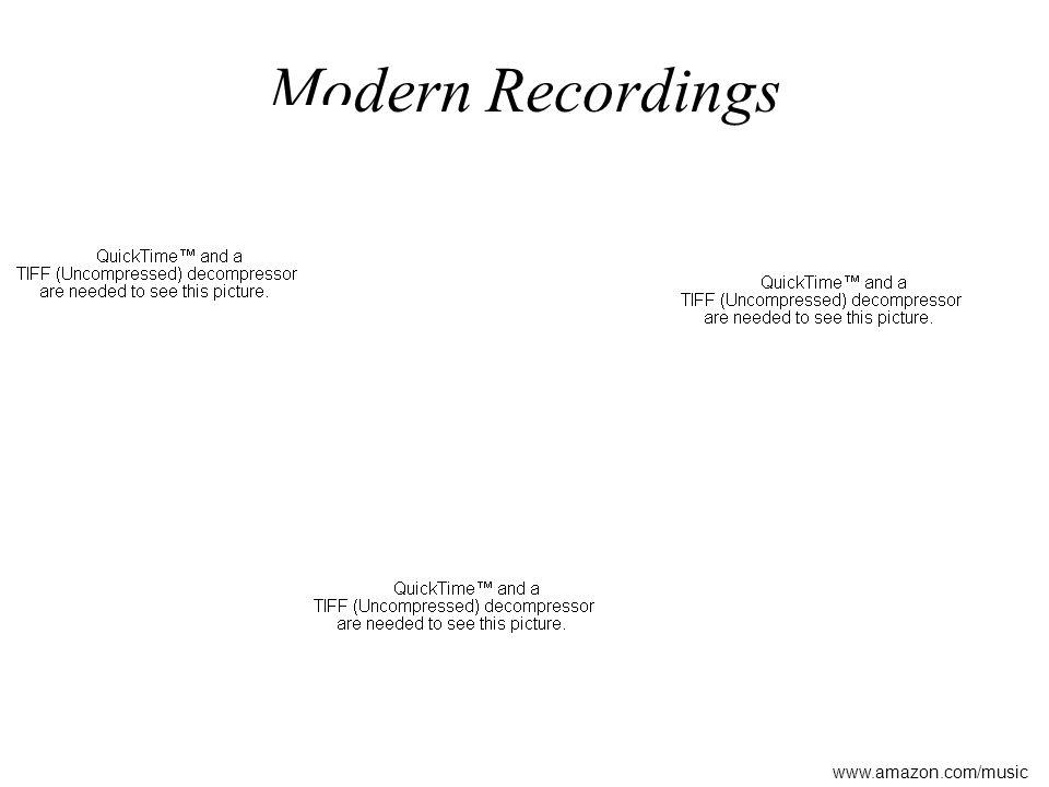 Modern Recordings www.amazon.com/music