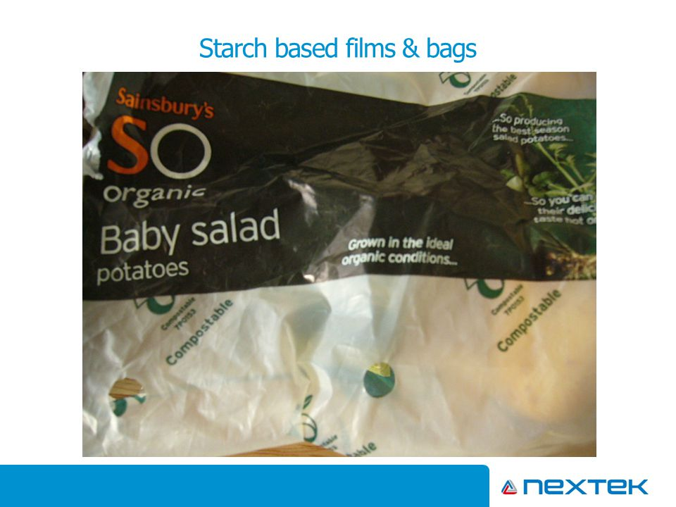 Starch based films & bags
