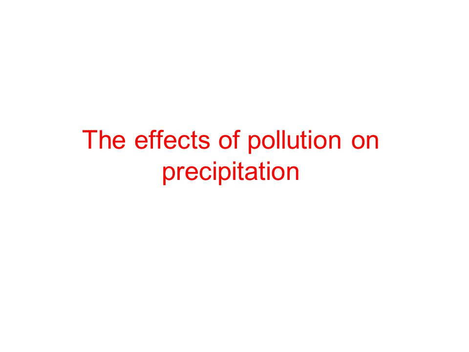 The effects of pollution on precipitation